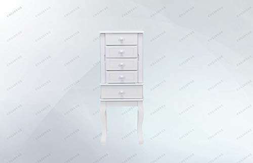 - COLIBROX>>>Jewelry Cabinet Armoire Storage Chest Stand This is Our Newly Designed Jewelry Cabinet with Mirror on top, which Serves as a Perfect Example for Large Storage Capacity