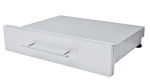 SUNSTONE DE-SD30 Designer Series Raised Style Height Single Drawer, 30'' x 6-1/2'', Stainless Steel by SUNSTONE