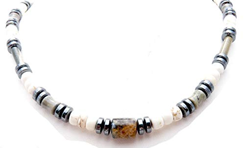 DAMALI Colorado Boulder Opal Gemstone Beaded Necklace Chakra Crystal Healing ABUNDANCE Stones, Jewels for Gents