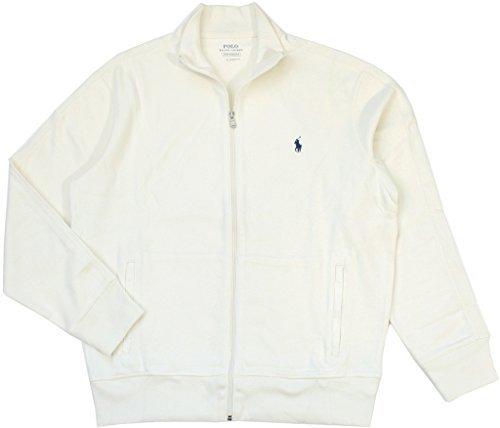 Polo Ralph Lauren Big & Tall French Rib Full Zip Jacket Sweater Chic Cream (3XB)