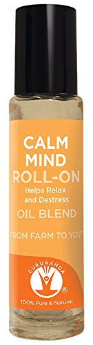- Calm Mind - GuruNanda Best Essential Oil Blend Roll-on, 10 ml, 100% Pure and Natural Therapeutic Grade, GC/MS Verified (Includes Lavender, Basil, Frankincense, Cedarwood, and Lemongrass)