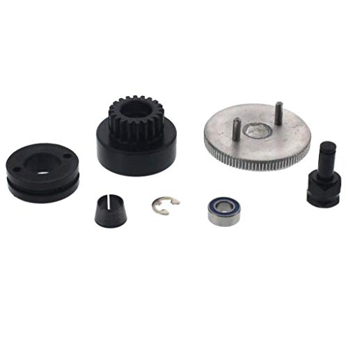 (Traxxas 1/10 Nitro Sport Pro .15 Clutch Bell FLYWHEEL Shoes Spring Bearings NUT)