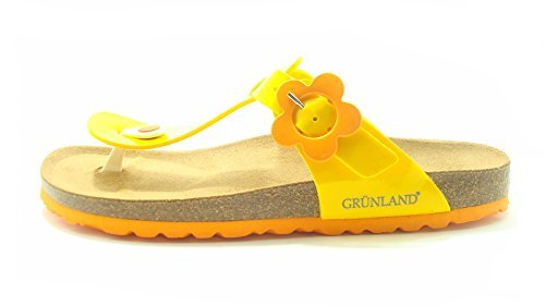 Fille Grünland Tongs Junior Jaune Pour twfH7Tq