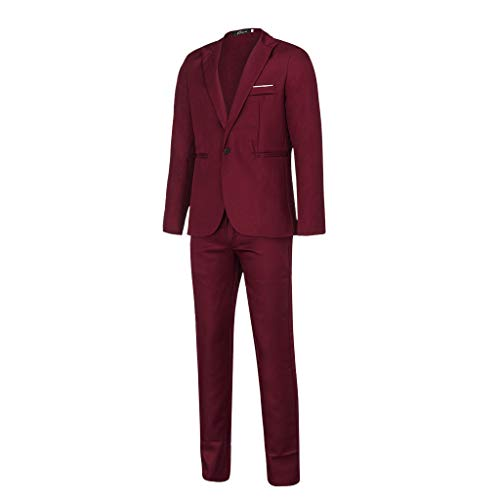 31Lt1%2BVa47L. SS500  - Sunward Men Slim Button Suit Pure Color Dress Blazer Host Show Jacket Coat & Pant