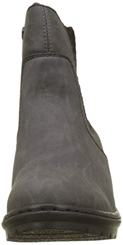 Chelsea Y1574 Boots Grau Schwarz Damen Rieker 45 Fumo gxwq7tC