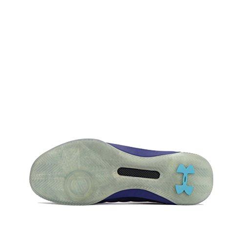 Sous Larmure Ua Curry 3 Entraîneurs De Basket-ball Faible Mens 1286376 Chaussures Baskets Bleu Violet 540