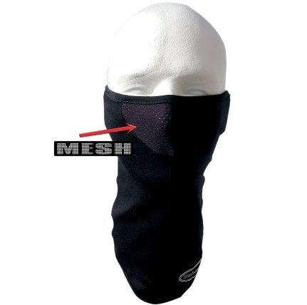 Schampa Stretch Cotton Lycra Facemask (Black, One Size)