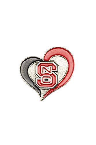 North Carolina Tar Heels Lapel Pins - aminco NCAA North Carolina Tar Heels Swirl Heart PinSwirl Heart Pin, Team Color, 4