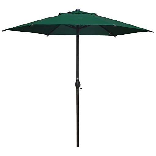 Garden and Outdoor Abba Patio 9′ Patio Umbrella Market Umbrella Outdoor Table Umbrella with Push Button Tilt & Crank for Patio, Dark Green patio umbrellas