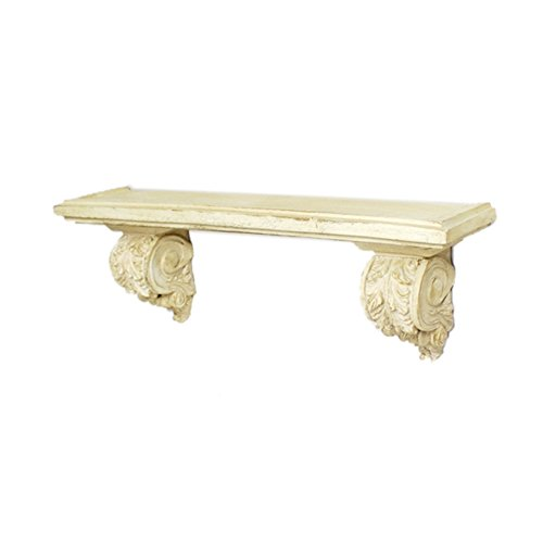 Fresco Collection (Heather Ann Creations Fresco Collection Traditional Accent Shelf With Double Acanthus Leaves, Cream)