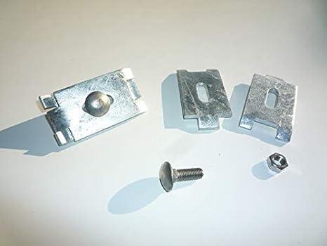10 x Mattenverbinder//Verbindungs-Klammern//Eckverbinder aus verzinktem Stahl zum Verbinden von Doppelstabmatten mit Einer Drahtst/ärke von 8//6//8 mm ohne Zaun-Pfosten.