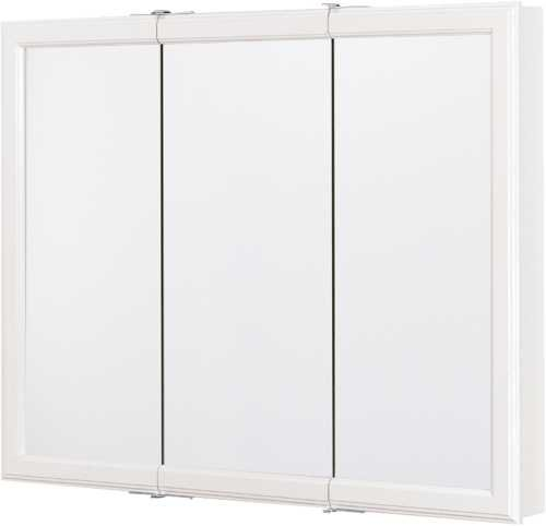 Rsi Home Products CBT36-WH-B Aluminum Triview Medicine Cabinet, 36'', White