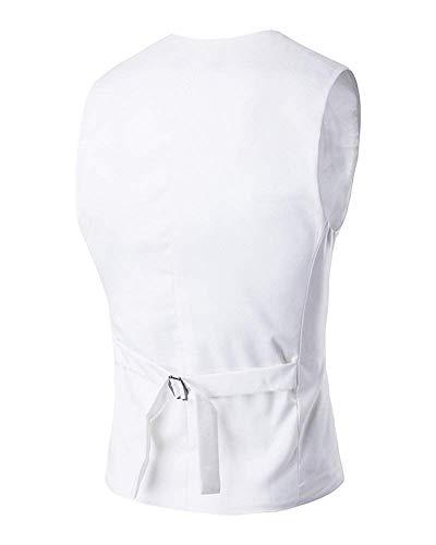 Costume V Boutons Slim Blanc Cou Blazer Simple Dos Party Gilet Veste Casual Vintage Au Hommes Le Bouton Profond 6x4f4Sq