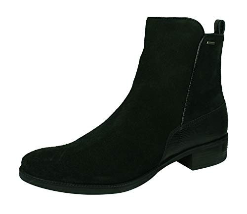 Geox D Meldi NP ABX Womens Suede Leather Ankle Boots-Black-9