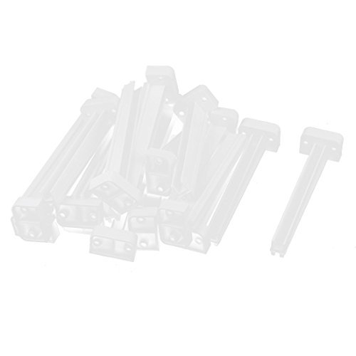 20pcs Plastic Vertical Mount PCB Board Slot Guide Rail Holder Bar Gray