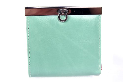 FreshGadgetz Ladies Multi Card Position Two Fold Metal Latch Purse Wallet (Green) Mitchell Steel Knife
