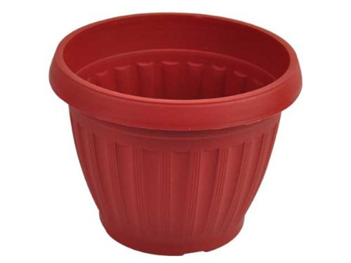 Terracotta Style Plastic Round Flower Pot - Pack of 72 by bulk buys