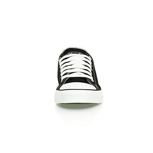 Ethletic Sneaker vegan LoCut - Farbe jet black / white aus Bio-Baumwolle