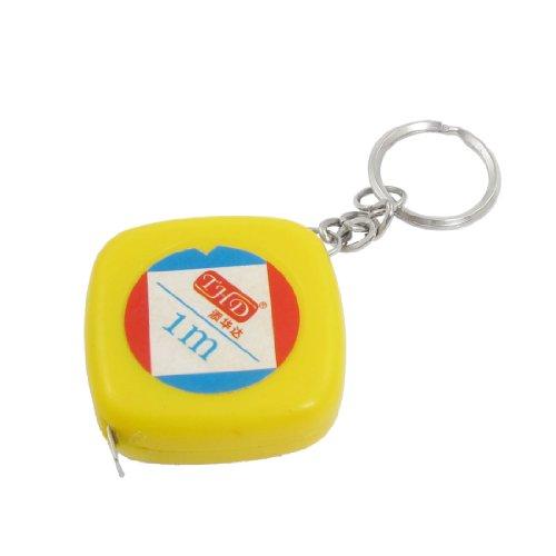 1M 3Ft Yellow Case Retractable Metric English Ruler Tape Measure Tool