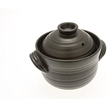 Kotobuki 190-803 Earthenware 1.5 Cup uncooked resulting in 4 Cup cooked Rice Cooker, Matte Black