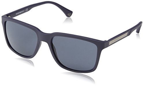 Emporio Armani EA 4047 Men's Sunglasses Blue Rubber - Sunglasses Blue Armani