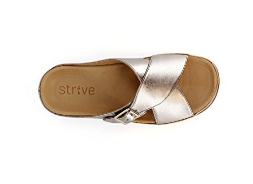 Strive calzado Maria hebilla elegante sandalias ortopédicas Pewter