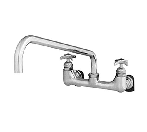 T&S Brass B-0291 Wall Mount Big-Flo Mixing Faucet with 8-Inch Centers and 18-Inch Swing Nozzle Inlets