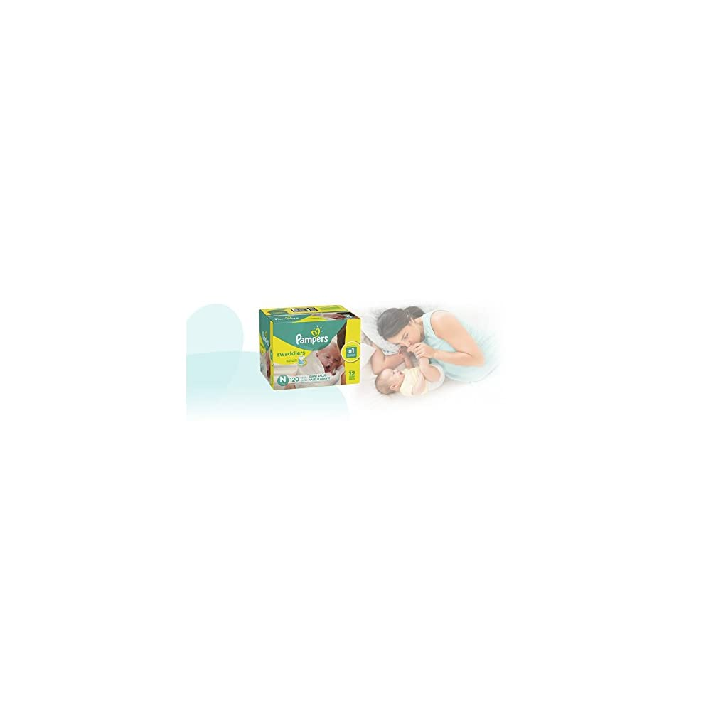 Diapers Size N 120 Count Pampers Swaddlers Disposable