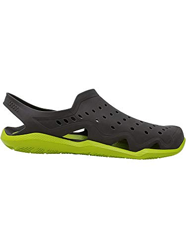 Crocs Men's Swiftwater Wave Graphite/Volt Green Ankle-High Rubber Sandal - 4M by Crocs (Image #3)