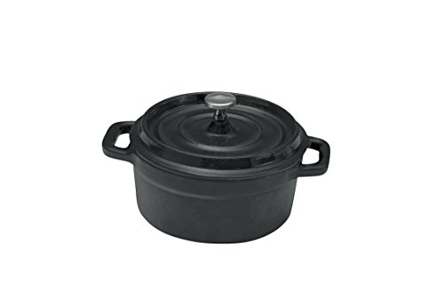 Oneida Foodservice 80204410MAT Cast Iron Collection Round Baker W/Cover 9 oz (Set of 12)