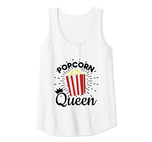 - Womens Popcorn Queen - Popcorn Lover  Tank Top