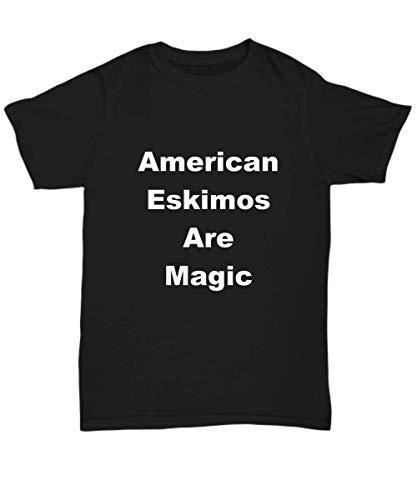 Her Every Ware American Eskimos T-Shirt Unisex Gift for Lover Owner Breeder Walker Sitter - Eskimo American Breeder