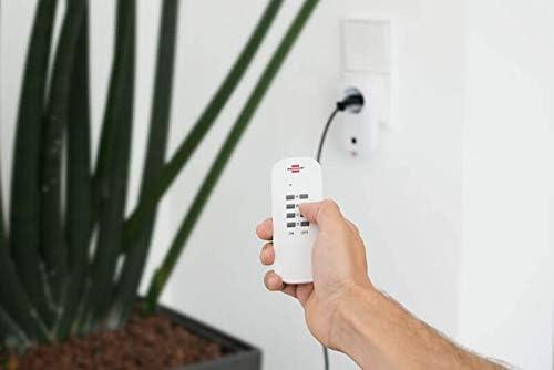 Brennenstuhl Funkschalt-Set RC CE1 3001 3er Funksteckdosen Set mit Handsender und Kindersicherung wei/ß