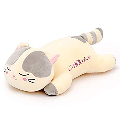 Lazada Kids Pillow Stuffed Cat Pillow Customized Pet Gifts for Toddlers and Girls 18 Inches Gray: Toys & Games