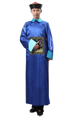 [Bysun Ancient Qing Dynasty robes BlueFS] (Chinese Dynasty Costume)
