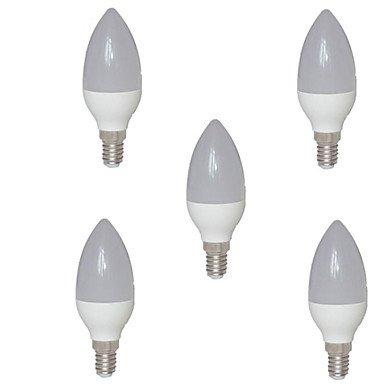 RTS 5 W E14 LED Velas de bombillas C35 15 SMD 2835 720 lm cálida blanco AC 220 - 240 V: Amazon.es: Iluminación