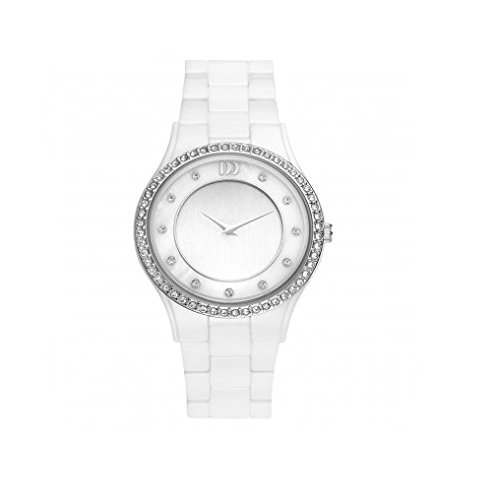 Danish Design V62Q1024 Ladies White Ceramic Watch with Zirconium Crystal