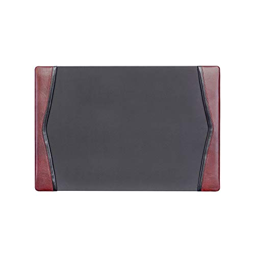 Dacasso Burgundy Desk Pad with Side-Rails, 25.5 by 17.25 Inch