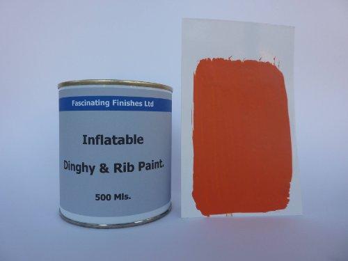 1 x 500ml Orange Inflatable Dinghy Anti Slip Paint. Boat ...