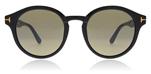 Tom Ford TF400 01J Black Lucho Round Sunglasses Lens Category 2 Size - Round Sunglasses Tom Ford