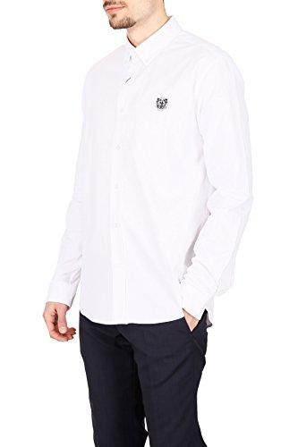 Kenzo Homme F755CH4001LBBIANCO Blanc Coton Chemise