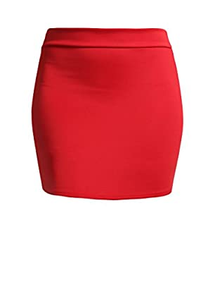 NE PEOPLE Women's Stretch Knit Bodycon Mini Pencil Skirt Made In USA Black