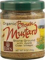 Eden Foods Brown Mustard Glass ( 12x9 Oz)