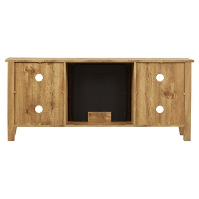 Amazon.com: McCall TV Stand with Electric Fireplace, Barnwood ...