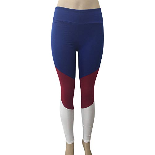 Trousers Pants Femmes Leggings Bleu Yoga Pantalons NINGSANJIN Femmes Fitness Coutures lastique Mode pour Pantalon Yoga Haute De Femme Taille Sports aaZqwUR