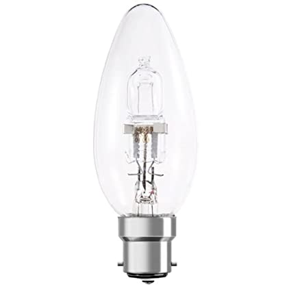 BELL 05205 Energy Saving Clear Halogen Candle Light Bulb 42W SBC//B15 Pack of 10