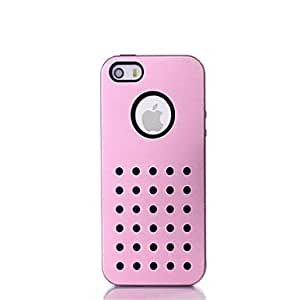 iPhone 5S Case, WKell Black Luxury Polka Dot Back Case Cover For iPhone 5/5S(Assorted Colors),Golden