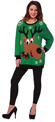 Forum Novelties Men's Reindeer Novelty Christmas Sweater, Multi, Medium]()