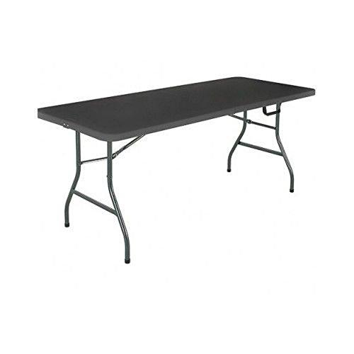 Mainstays 6 Centerfold Folding Table, White or Black Black