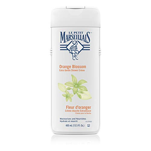 (Le Petit Marseillais Extra Gentle Shower Crème with Orange Blossom, Moisturizing & Nourishing French Body Wash for pH Neutral for Skin, 13.5 fl.)